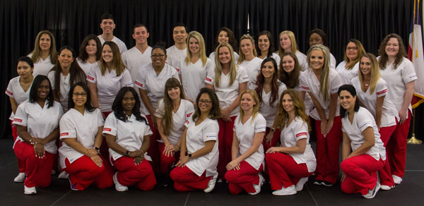 The 2017 graduates of the College of the Mainland Associate Degree Nursing Program.